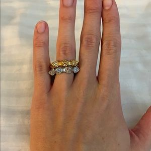Gold and silver BCBGMAXAZRIA spike rings NEW